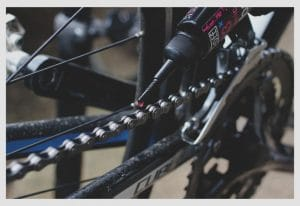 Lubricate brakes and chain