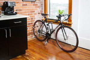 Choose a bike storage location
