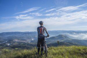 Mountain biking is fun
