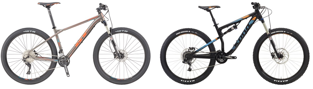 Hardtail vs Full Suspension Mountain Bike