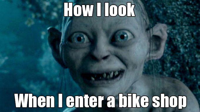 Cycling memes: Entering a bike shop