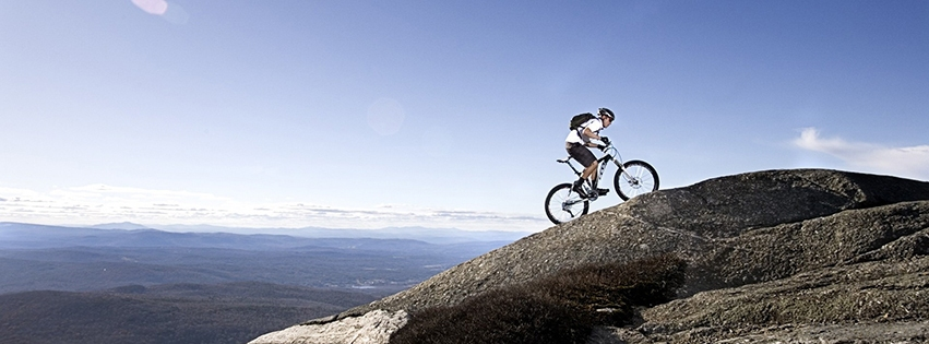 Your Facebook cover includes your bike or your favorite bike spot