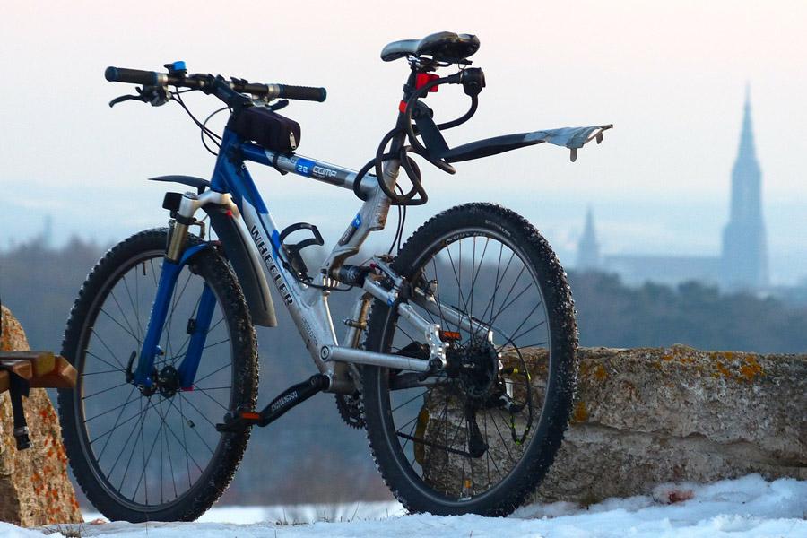 Parked Mountain Bike